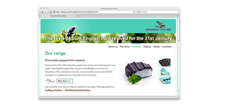 Summerdown Pure Mint web site