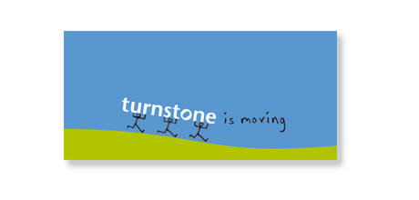 Turnstone moving card